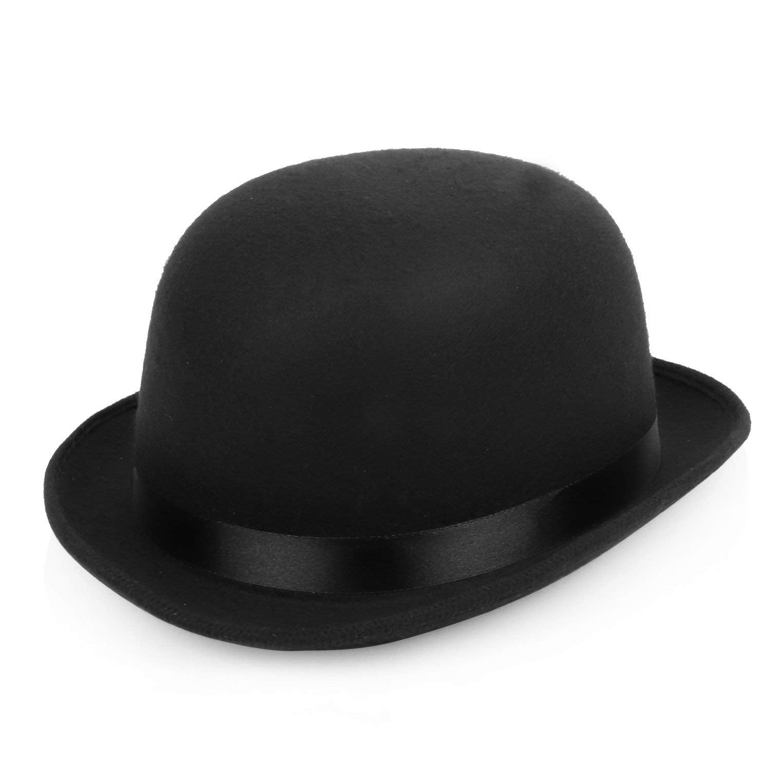 Armycrew 4.5 Inch High Deluxe Felt Derby Bowler Hat with Precurved Bill c4a1c0fca5c0