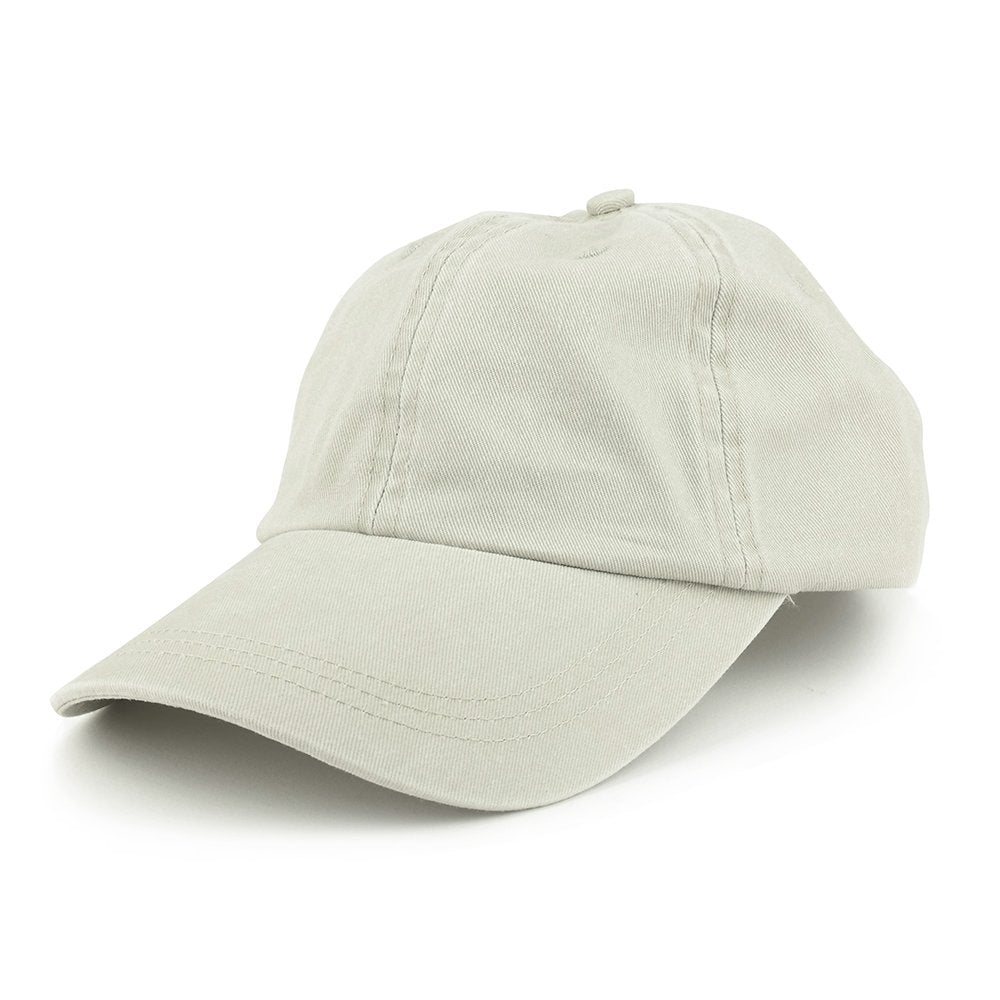 42784b3b4df Armycrew Low Profile Plain Washed Pigment Dyed 100% Cotton Twill Dad Cap