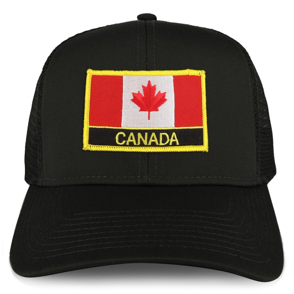38a20346 Armycrew XXL Oversize Canada Flag with Text Patch Mesh Back Trucker  Baseball Cap