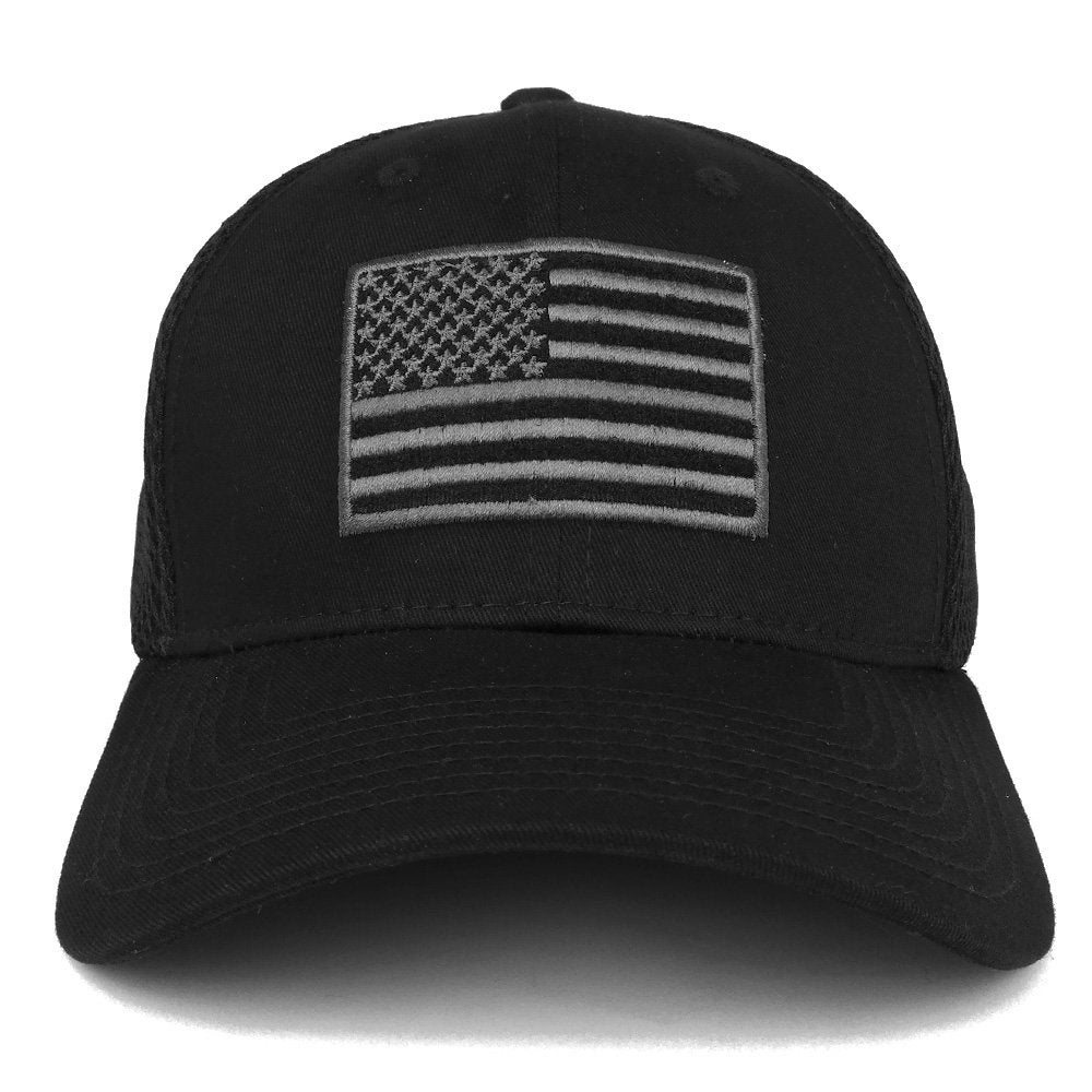 4ab7cb2ceb6 Armycrew American Flag Embroidered Low Profile Flexible Air Mesh Baseball  Cap