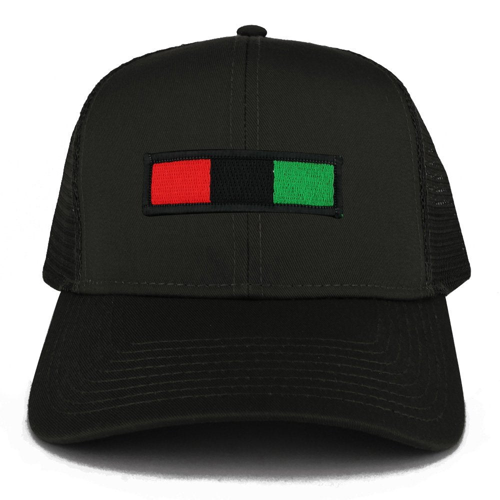 94e6ea7d9175 Africa Red Black Green Embroidered Iron on Patch Adjustable Trucker Mesh Cap