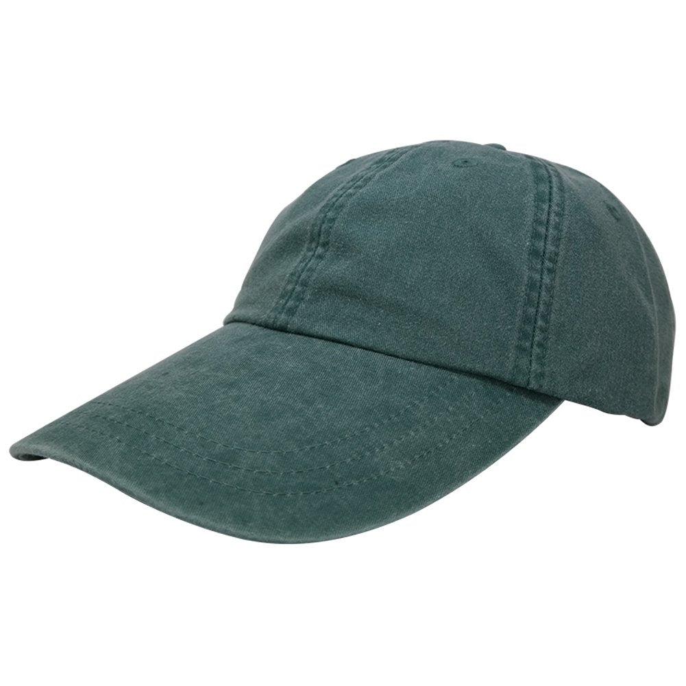 b708a45f1db31 Sunbuster Extra Long Bill 100% Washed Cotton Cap with Leather Adjustable  Strap