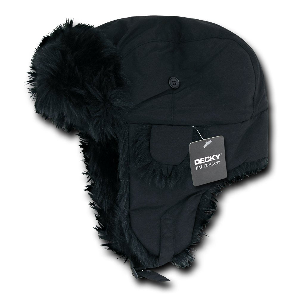 0940c6274c3cf DECKY Aviator Faux Fur Lined Trooper Hat with Adjustable Earflaps ...