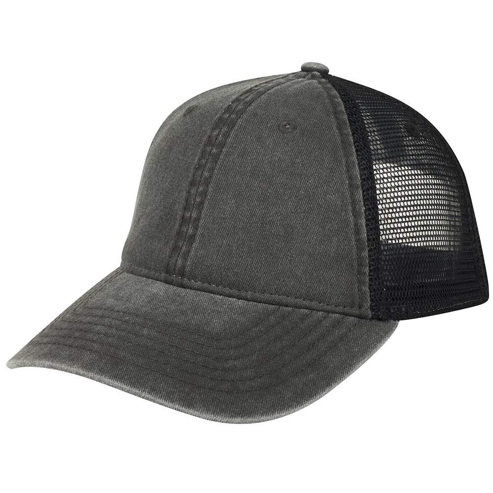 9bc02029 Armycrew Low Profile Washed Pigment Dyed Cotton Mesh Back Trucker Cap