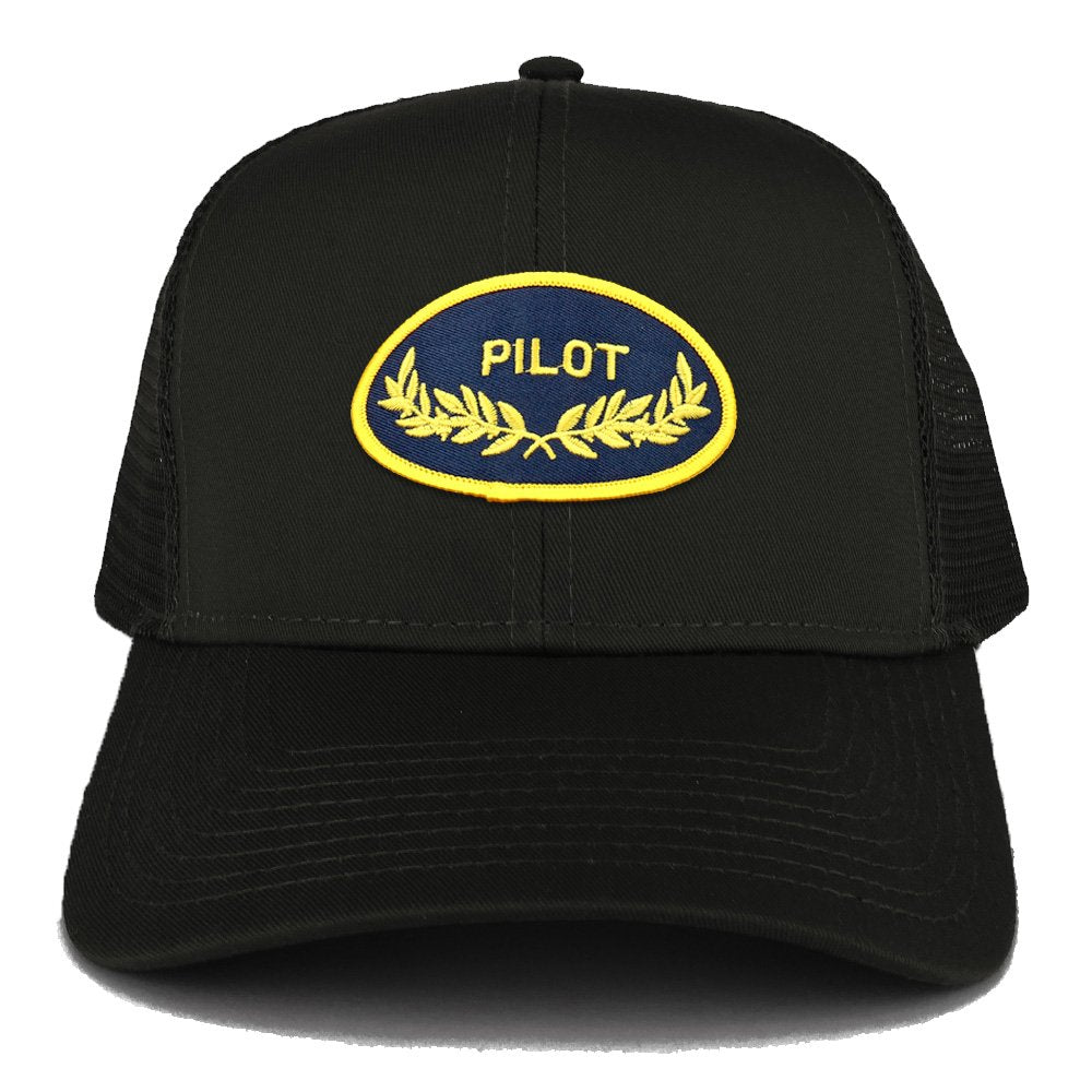 113eac9afa5 Armycrew Pilot Oak Leaf Oval Embroidered Patch Snapback Mesh Trucker C -  Armycrew.com