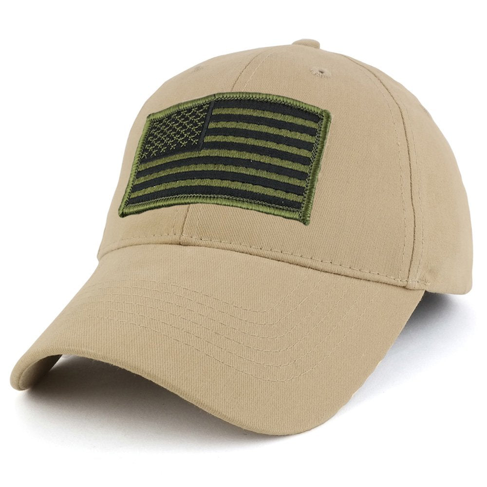 USA American Flag Embroidered Subdued OLIVE Tactical Patch with Adjustable  Operator Cap 7e779739270