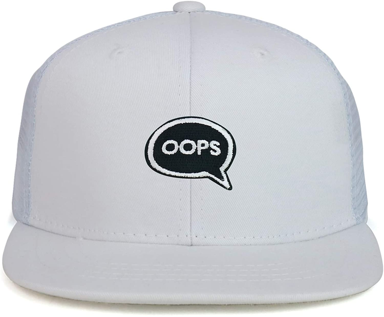 Youth Kid Size Oops Patch Flat Bill Snapback Baseball Cap