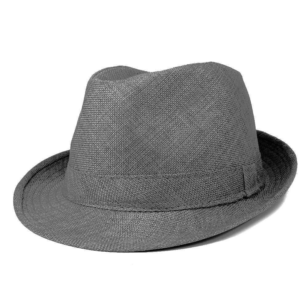7be5cbfa5d3a7 Mens Stylish Lightweight Linen Solid Color Fedora Hat - Armycrew.com