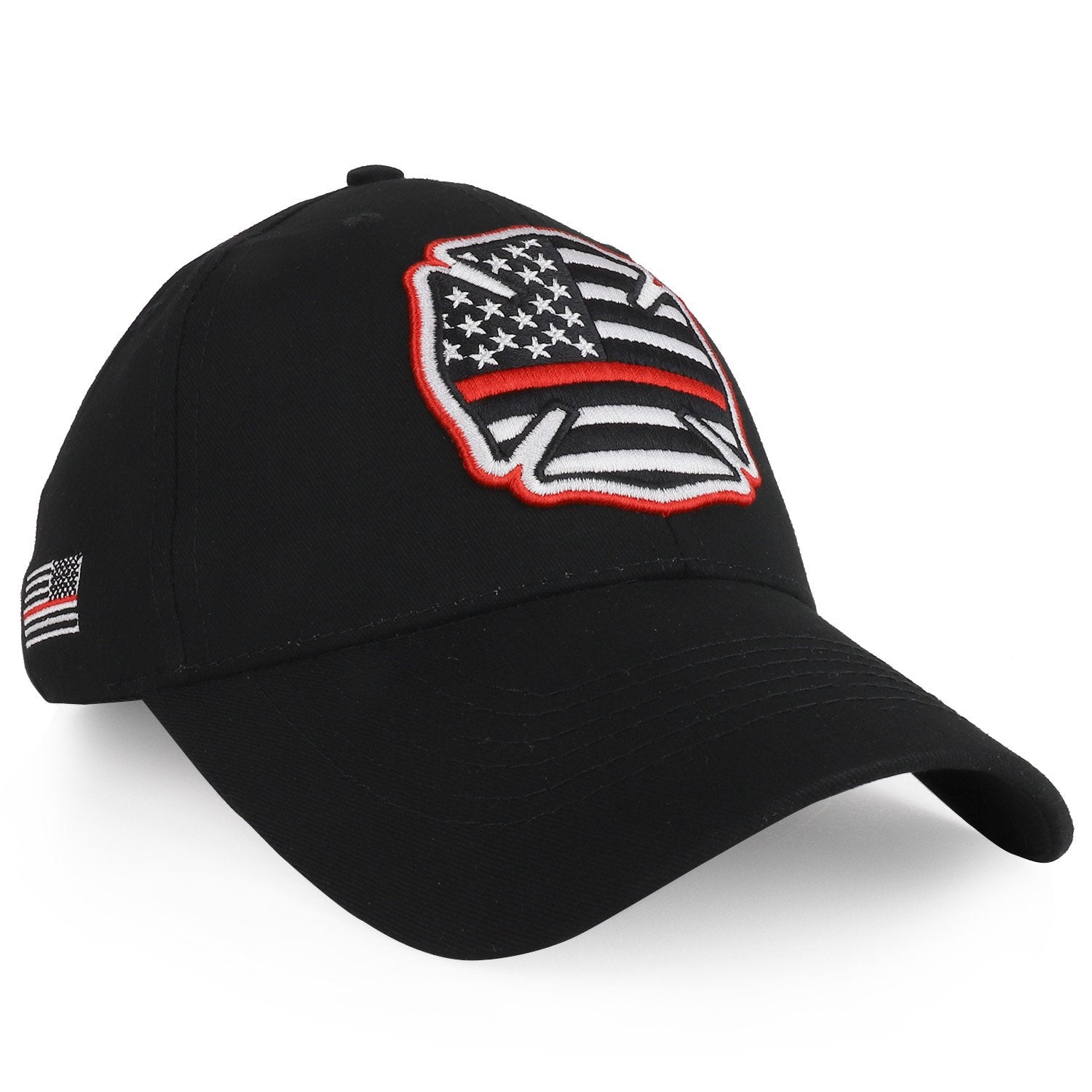 04e5f9df1db Armycrew US Thin Red Line Flag Embroidered Structured Baseball Cap -  Armycrew.com