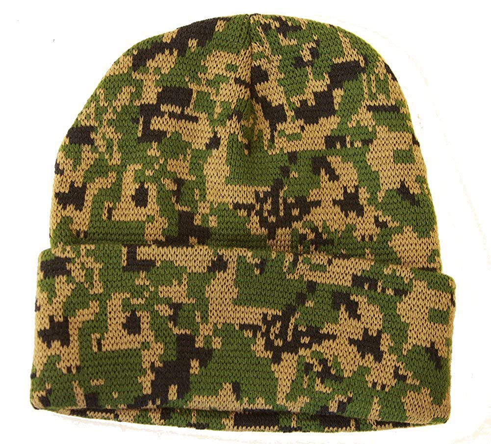 53957fe7586fe Knit Woodland Digital Camo Cuff Long Beanie - Winter Wear Sports - Gre -  Armycrew.com