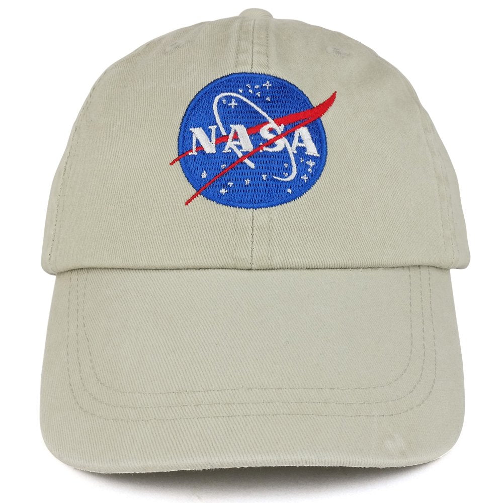 101f249ffcd Youth NASA Insignia Embroidered Soft Washed Cotton Twill Cap ...