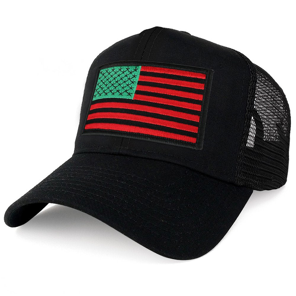 5ed5876647720 Armycrew XXL Oversize Red Green Black USA Flag Patch Mesh Back Trucker  Baseball Cap