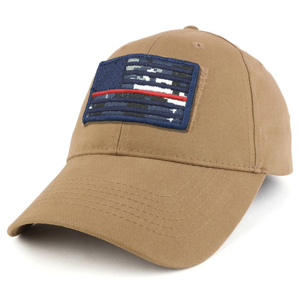 aed6c567afb Armycrew USA Navy Thin Red Flag Tactical Patch Cotton Adjustable Baseball  Cap