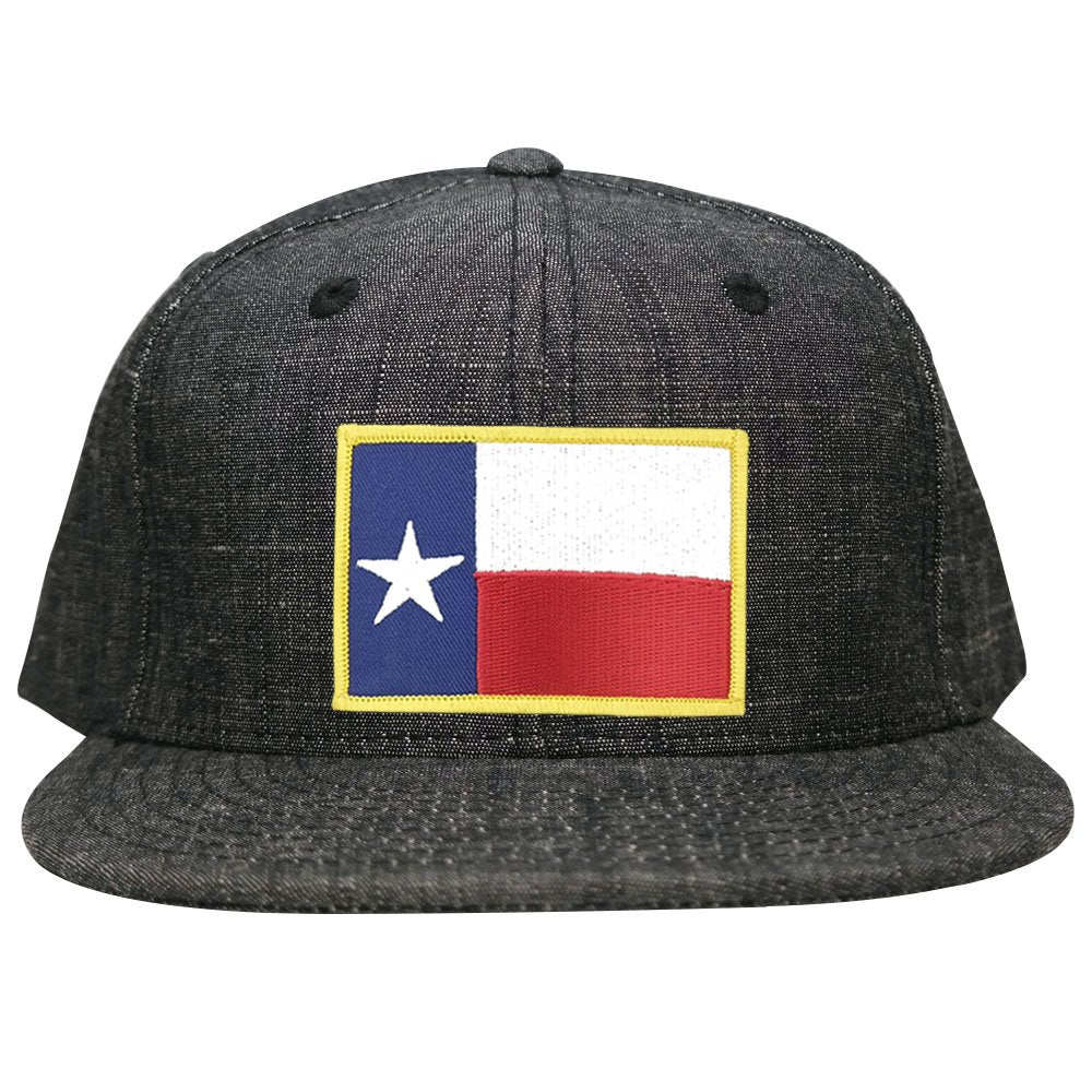 8af8a449dfd5c ... black trucker mesh snapback c9fe2 1f0e3; denmark washed denim texas  state flag embroidered iron on patch snapback cap c5685 6c0e4
