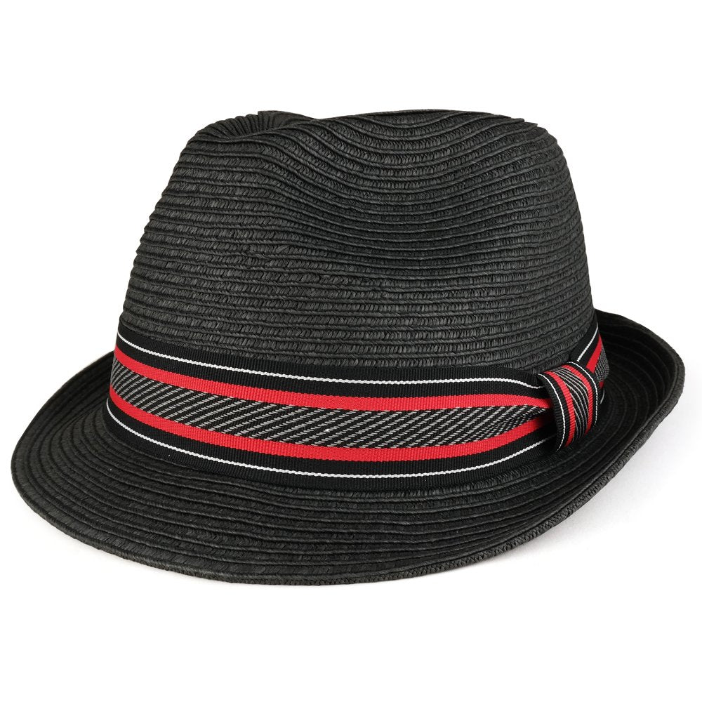 XXL Oversized Stylish Basic Stingy Straw Fedora Hat f0c7fa0689f