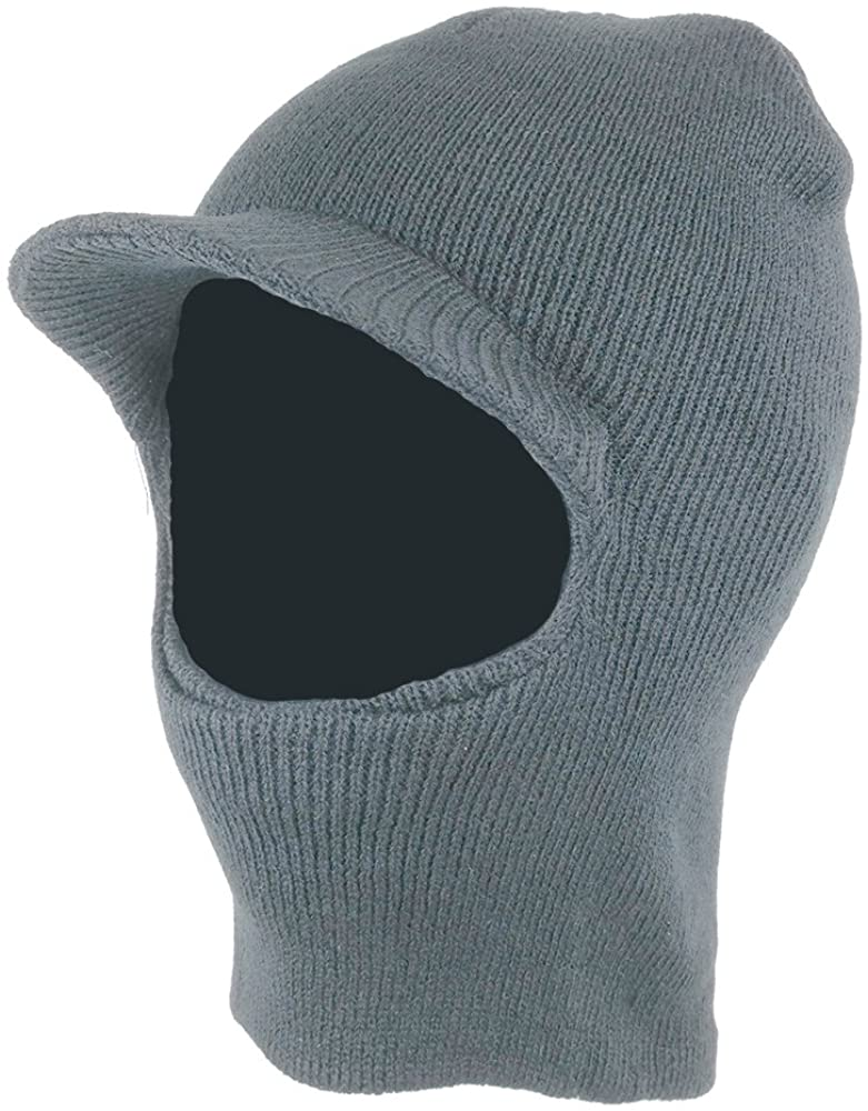 One Hole Ski Mask Beanie Hat With Visor Armycrew Com