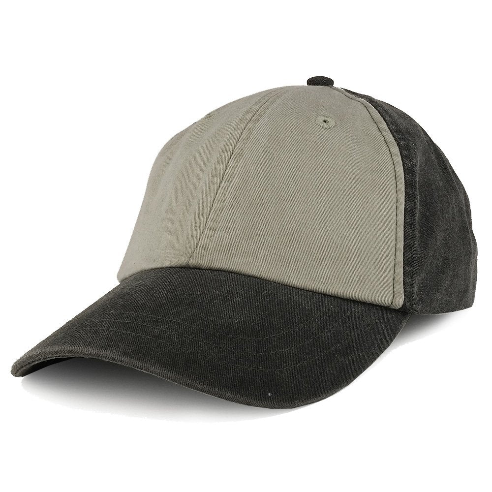 75e9c3156ea Two Tone Pigment Dyed Washed Unstructured Baseball Cap