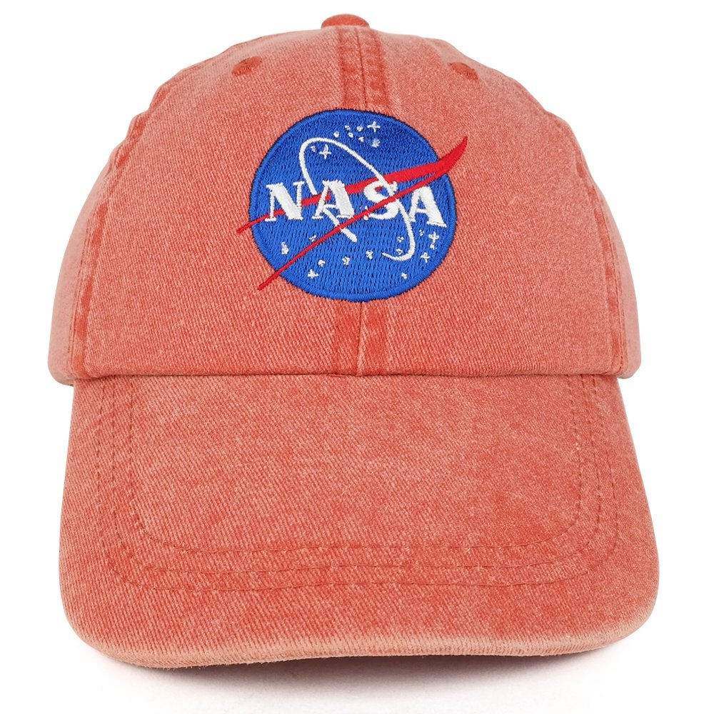 a540fc841a5 Youth NASA Insignia Embroidered Soft Washed Cotton Twill Cap ...