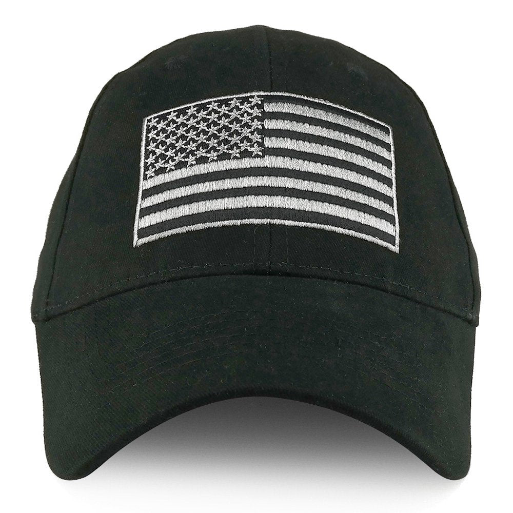 f583e9f4 USA Flag Embroidered Structured Brushed Cotton Baseball Cap - Armycrew.com