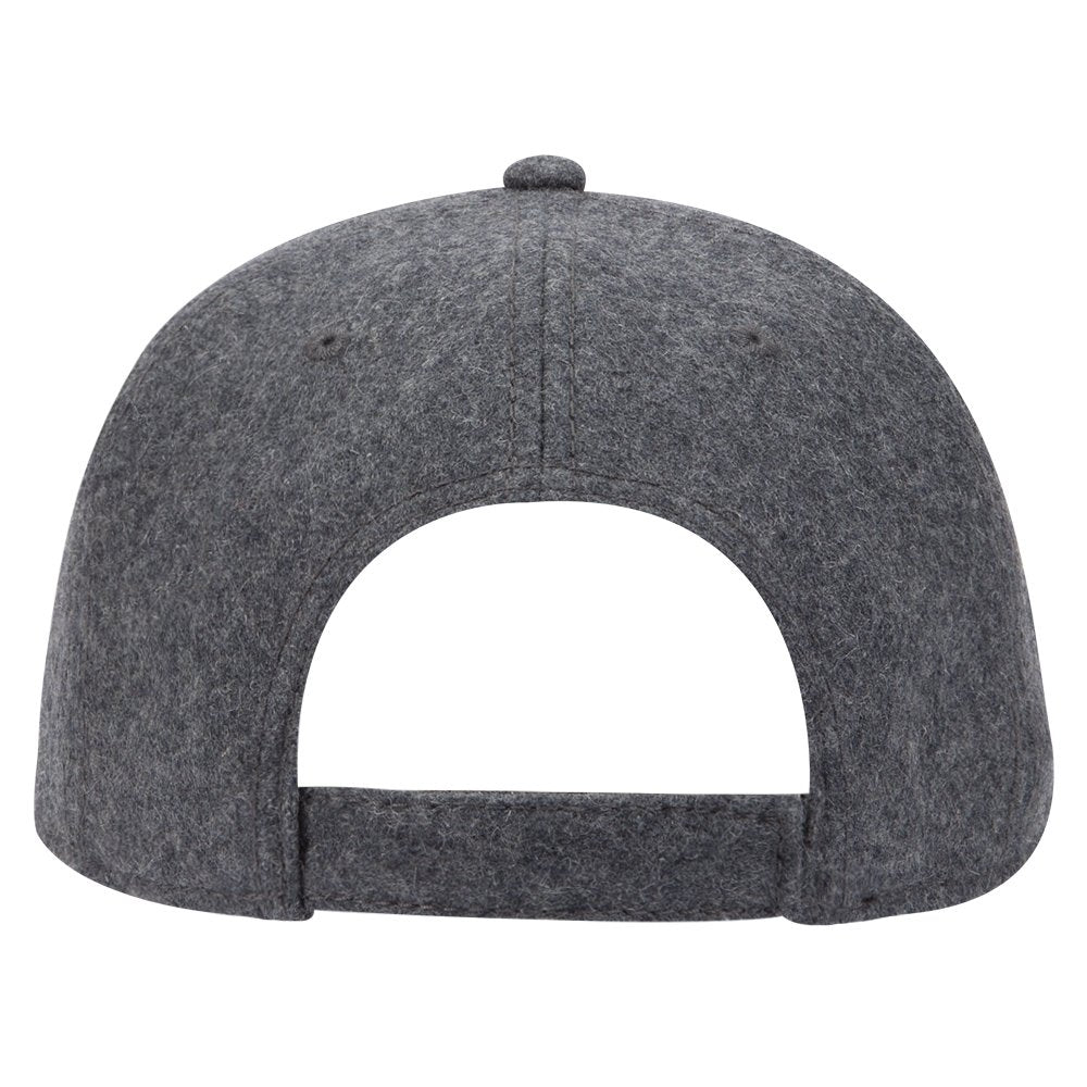 2034c7045ba441 Armycrew 5 Panel Low Profile Melton Wool Blend Structured Baseball Cap