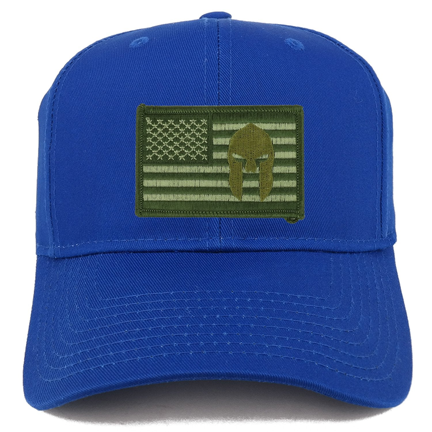 Armycrew Olive USA American Flag Spartan Logo Embroidered Iron On Patch  Snap Back Cap bd9052b8aed