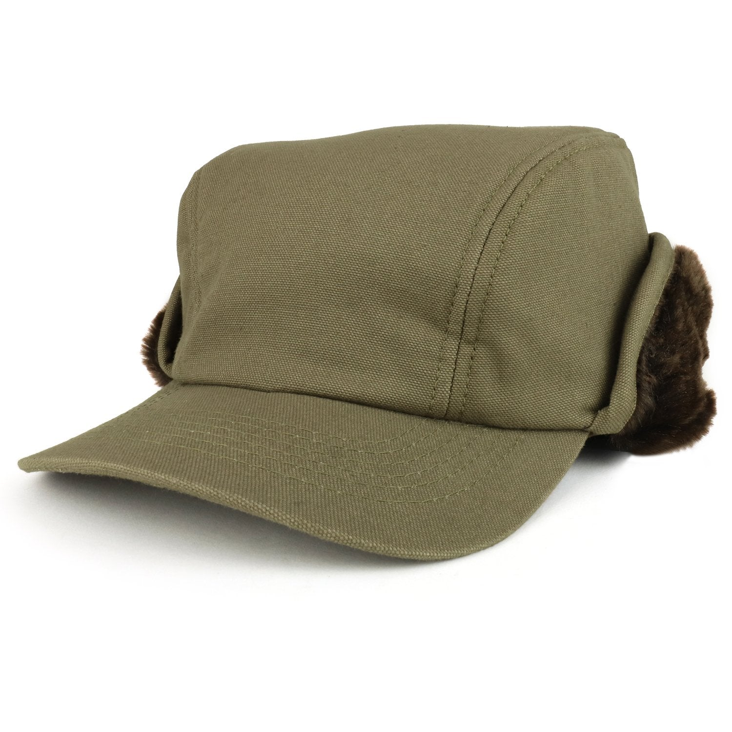 5134a0ec0 Armycrew Men's Duck Work Superior Cotton Winter Ball Cap with Earflap