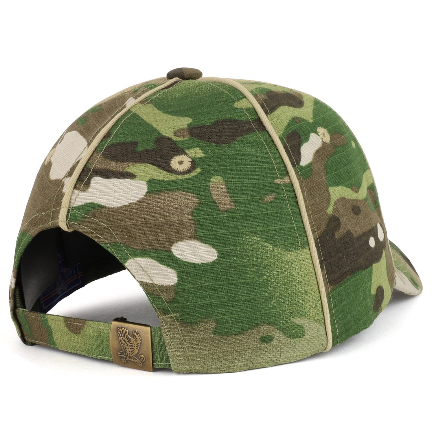 b99c345c0a2 Armycrew Veteran Font 3D Embroidered Camouflage Print Structured Baseball  Cap