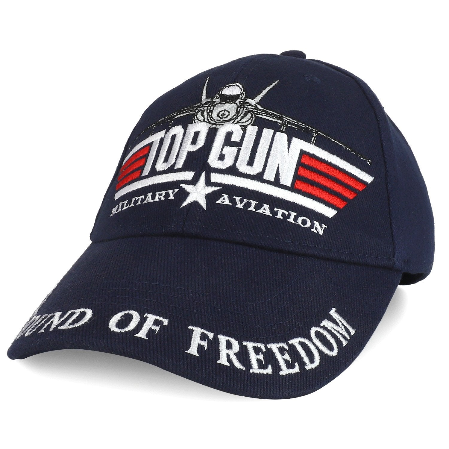 f497d3c70b2f3 Armycrew US Navy Top Gun Military Aviation Embroidered Adjustable Baseball  Cap