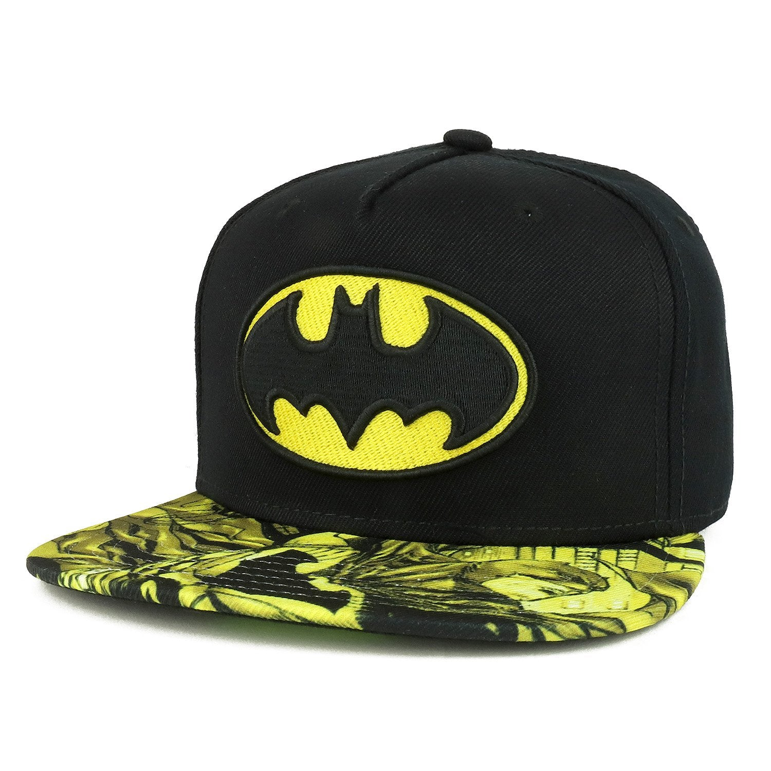 06d741197 Armycrew Youth Size Kid's Batman Logo Design Embroidered Flatbill Snap -  Armycrew.com