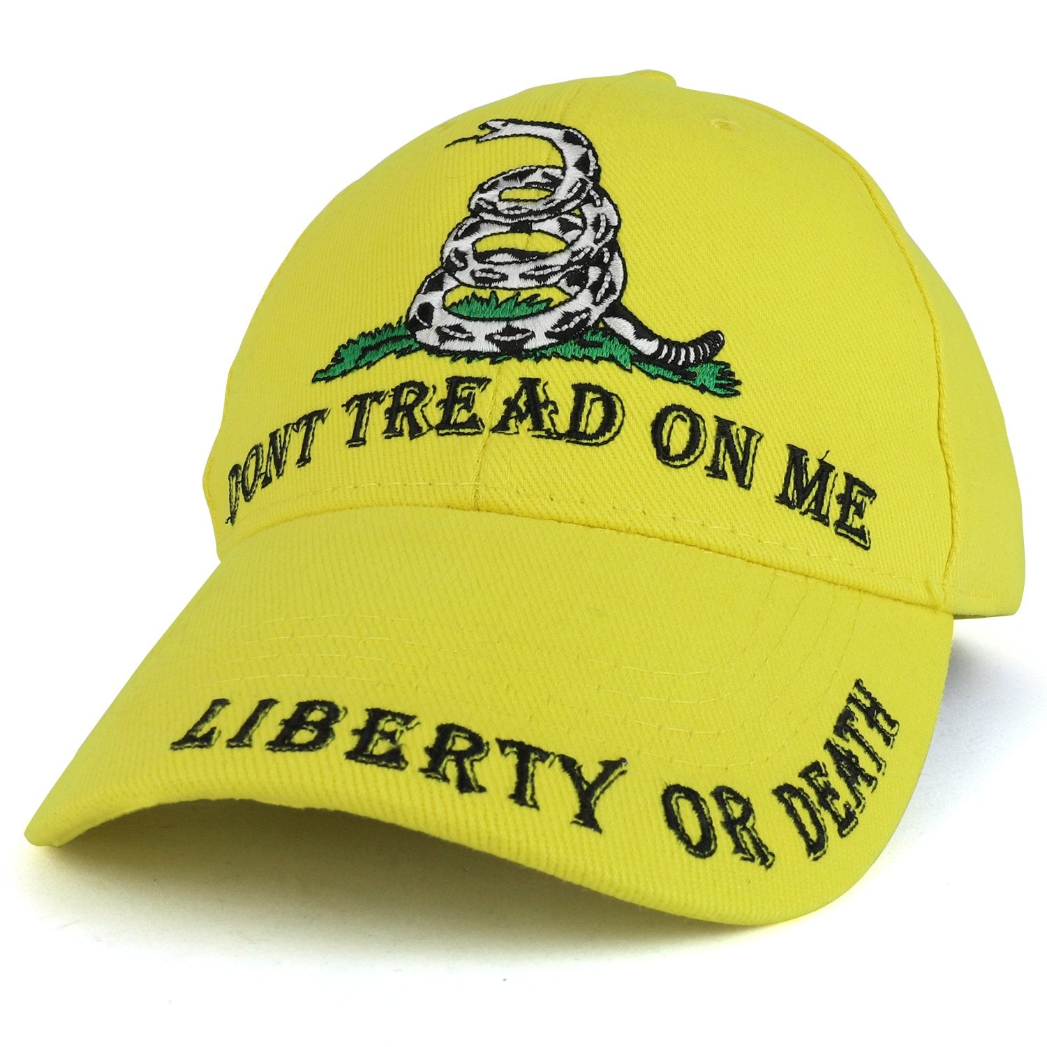 ed2ede59ada Armycrew Tread On Me Snake Liberty or Death Embroidered Structured Baseball  Cap