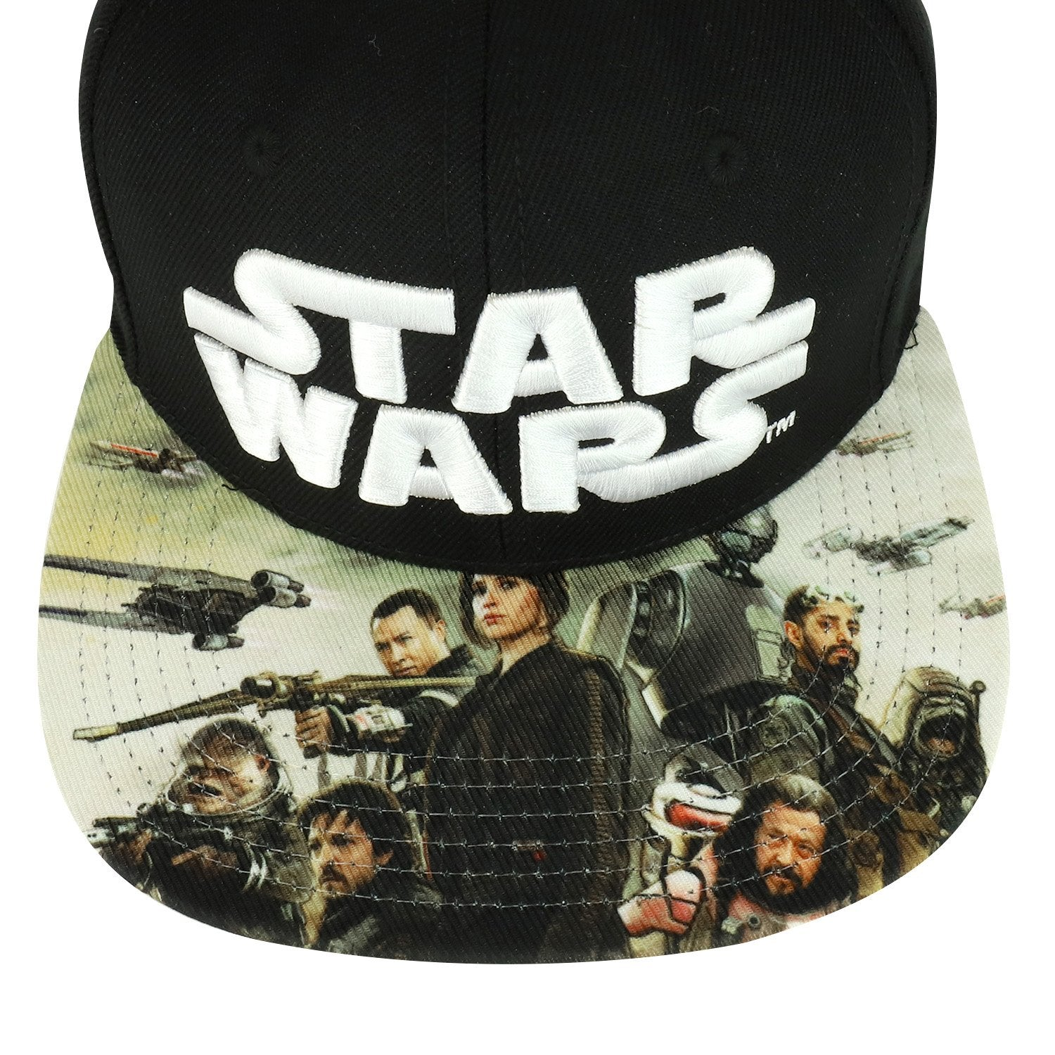 8917385a3e3 Armycrew Star Wars Logo 3D Embroidered Rogue One Sublimated Flat Bill  Snapback Cap