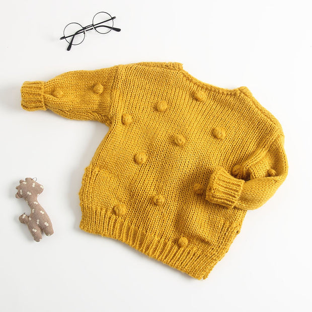 Bubble Ball Knitted Cardigan