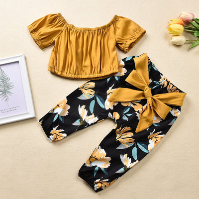 Baby Girl Clothing Set Off Shoulder matching set