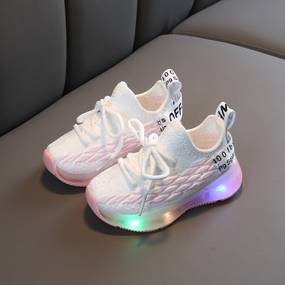 Kids Led Shoes Breathable Sneakers
