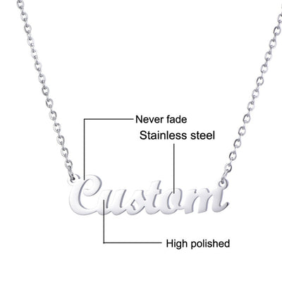 Stainless Steel Kids Personalized Name Necklace
