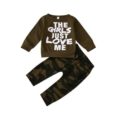 Baby Boys Long Sleeve Outfit