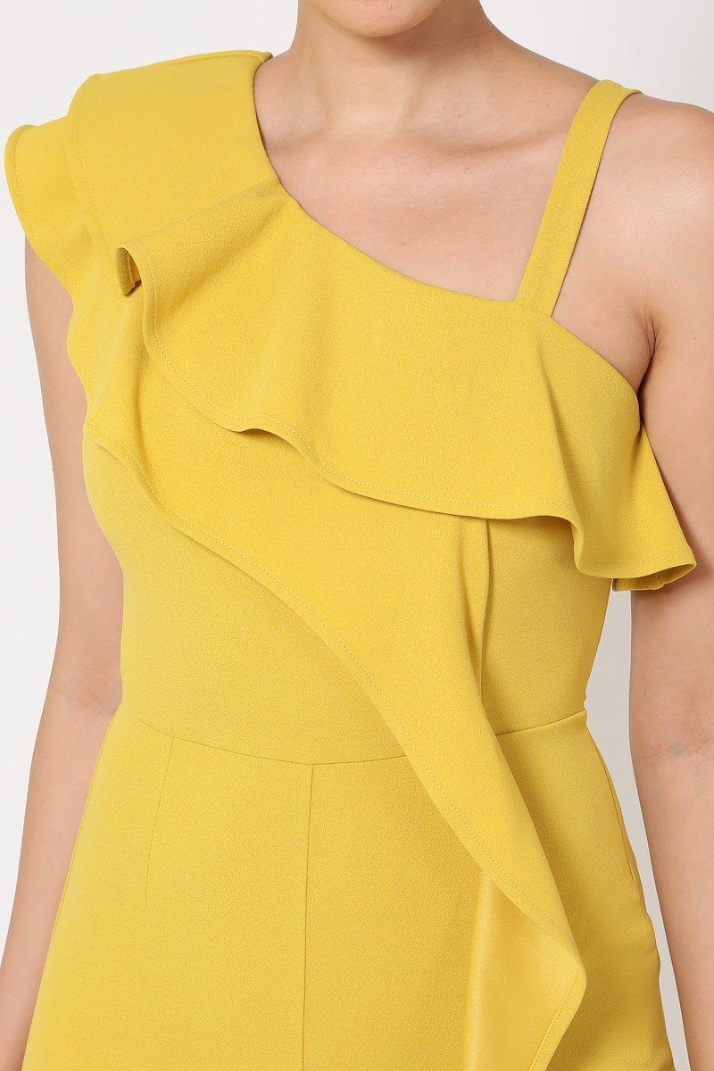 Jumpsuit - One Shoulder Ruffle Jumpsuit - Local Scenes