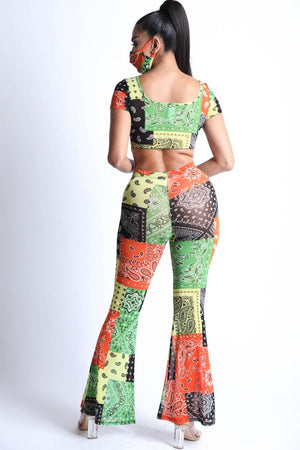 Jumpsuit - Bandanna Patchwork Mesh Set - Local Scenes