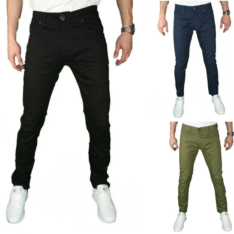Men's Pants Men's 5 Pocket Casual Slim Fit Ultra Stretch Chino Pants - Local Scenes Store