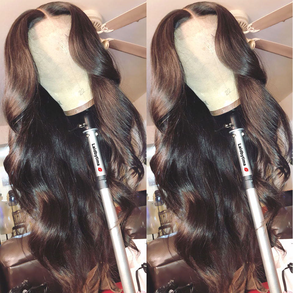 Body Wave - 13X4 Glueless Lace Front Pre Plucked Body Wave Wig Remy Wavy Lace Front Wig - Local Scenes