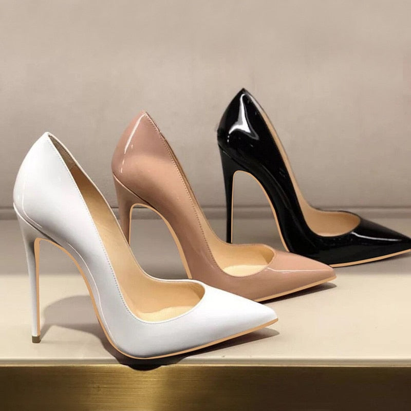 Heels - Women Pumps Nude Pointed Toe High Heel Shoes Stiletto Ladies - Local Scenes