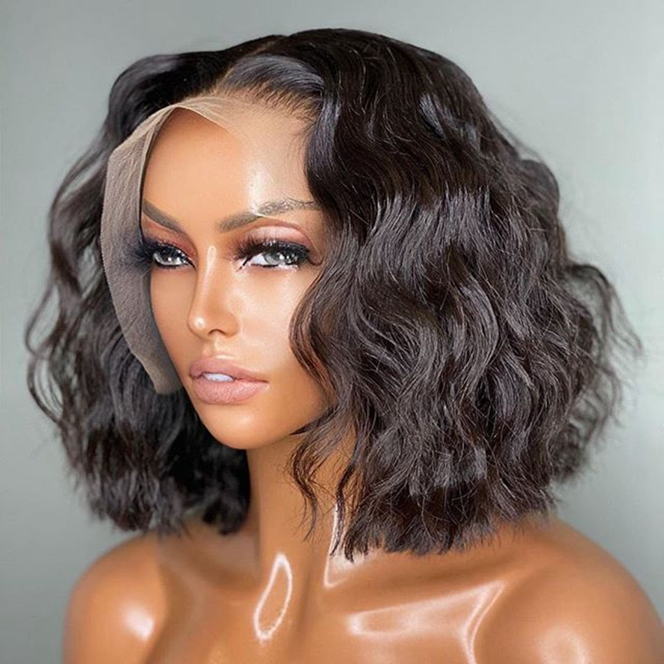 Short Brazilian Natural Wave Bob Silk Top Full Bob Wigs - Local Scenes Store