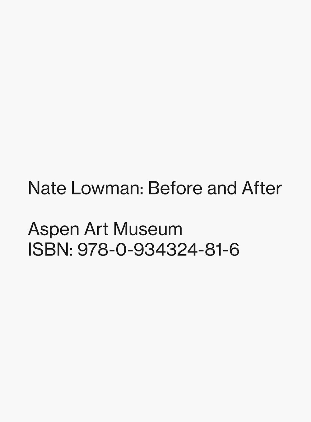 Nate Lowman: Before and After