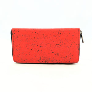 Brieftasche Kork Kreditkarte Purse rot red