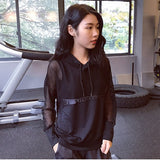 Mesh Hollow Yoga Long Sleeve Pullover