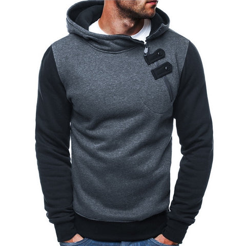Unique Patchwork Zipper Hoodie