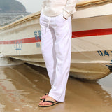 Cotton Linen Loose Casual Trousers