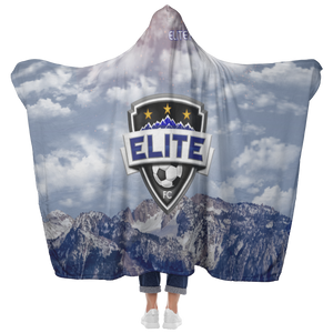 Elite Rocky Mountain Premium Hooded Sherpa Blanket with Personalized Mittens