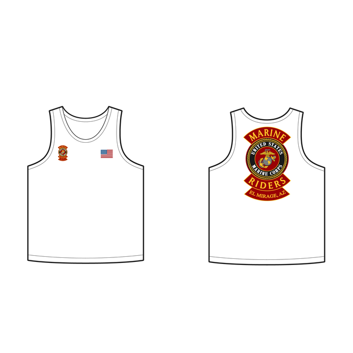 Adult Marine Riders White Tank