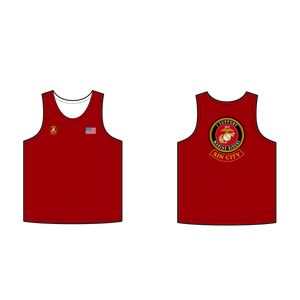 Adult Marine Riders Supporter Red Tank